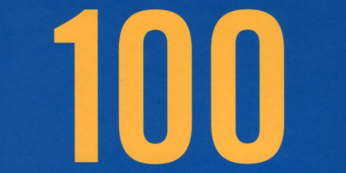 """Front cover of Bill Drummond's """"100"""""""