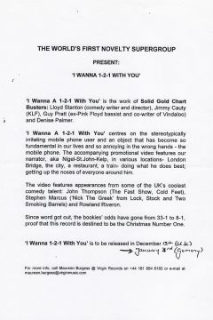 I Wanna 1-2-1 With You (English Press Release)
