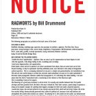 """RAGWORTS"" by Bill Drummond (Penkiln Burn Poster 407)"